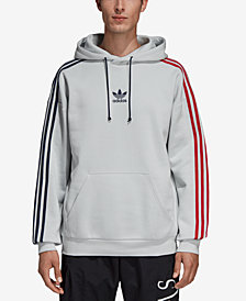 adidas Men's Originals Fleece Three-Stripe Hoodie