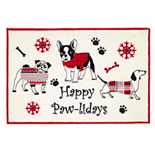 CLOSEOUT! Avanti Happy Pawlidays Rug