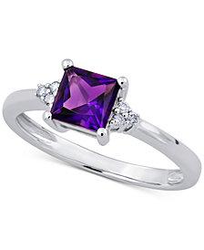 Amethyst (3/4 ct. t.w.) & Diamond Accent Ring