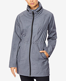 32 Degrees Hooded Cinched-Waist Anorak Raincoat