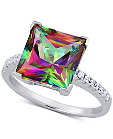 Mystic Topaz (5-3/4 ct. t.w.) & Diamond (1/10 ct. t.w.) Ring in 14k White Gold