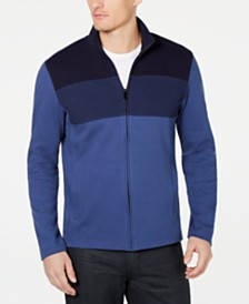 Alfani Men's Colorblocked Full-Zip Sweater Jacket, Created for Macy's