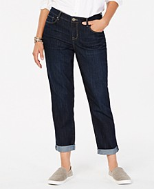 Curvy-Fit Cuffed Boyfriend Jeans, Created for Macy's