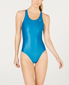 Nike Flash-Bonded Fastback One-Piece Swimsuit