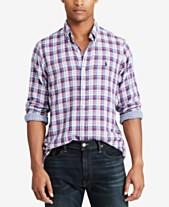 fa3050d0b9e9d Polo Ralph Lauren Mens Casual Button Down Shirts   Sports Shirts ...