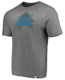 Majestic Men's Detroit Lions Static Fade T-Shirt