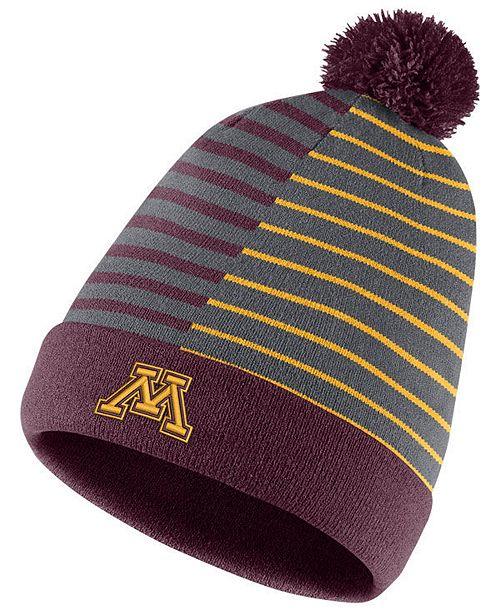 timeless design eea5a 26578 Minnesota Golden Gophers Striped Beanie Knit Hat ...
