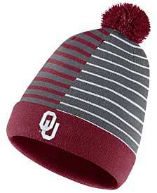 Nike Oklahoma Sooners Striped Beanie Knit Hat