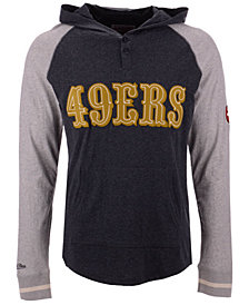 Mitchell & Ness Men's San Francisco 49ers Slugfest Lightweight Hooded Long Sleeve T-Shirt