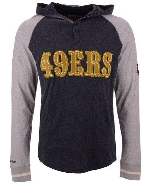 Lids Mitchell Macy's Long Ness Sleeve Francisco 49ers San - By amp; Men's Shop Men Sports Reviews Lightweight Slugfest T-shirt Hooded Fan