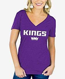 Gameday Couture Women's Sacramento Kings Sequin Wordmark T-Shirt