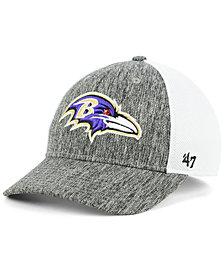 '47 Brand Baltimore Ravens Hazy Flex CONTENDER Stretch Fitted Cap