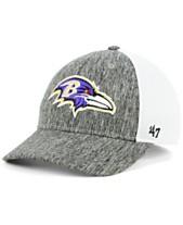 65f6f9538  47 Brand Baltimore Ravens Hazy Flex CONTENDER Stretch Fitted Cap