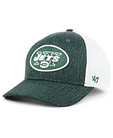 '47 Brand New York Jets Hazy Flex CONTENDER Stretch Fitted Cap