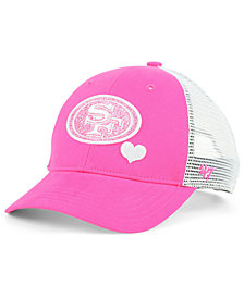 '47 Brand Girls' San Francisco 49ers Sugar Sweet Mesh Adjustable Cap