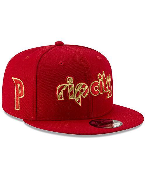 best cheap 0e7f8 fda7b New Era Portland Trail Blazers Mishmash 9FIFTY Snapback Cap - Sports ...