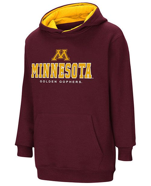 Colosseum Minnesota Golden Gophers Pullover Hooded Sweatshirt, Big Boys (8-20)