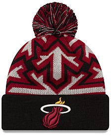New Era Miami Heat Glowflake Cuff Knit Hat
