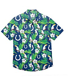 Forever Collectibles Men's Indianapolis Colts Floral Camp Shirt