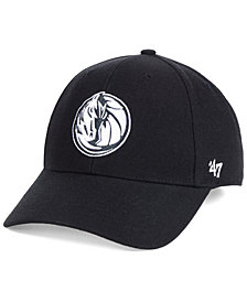 '47 Brand Dallas Mavericks Black White MVP Cap