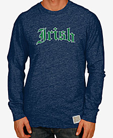 Retro Brand Men's Notre Dame Fighting Irish Mock Twist Long Sleeve T-Shirt