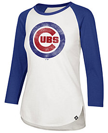 '47 Brand Women's Chicago Cubs Imprint Splitter Raglan T-Shirt