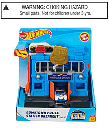 Hot Wheels City Downtown Police Station Breakout Play Set