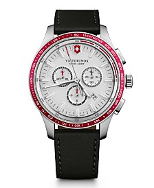 Victorinox Swiss Army Men's Alliance Sport Chronograph Black Leather Strap 44mm