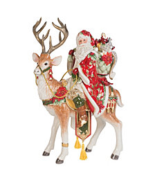 Fitz and Floyd Santa and Stag Centerpiece