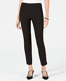 Alfani Petite Velvet-Stripe Skinny Pants, Created for Macy's