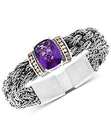 EFFY® Amethyst Bracelet (9-1/2 ct. t.w.) in Sterling Silver & 18k Gold