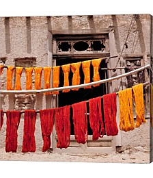 Wool Drying Textile, Ghazni, Afghanistan by Ric Ergenbright,Danita Delimont Canvas Art