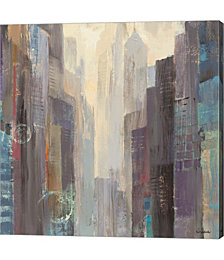 City At Dawn by Albena Hristova Canvas Art