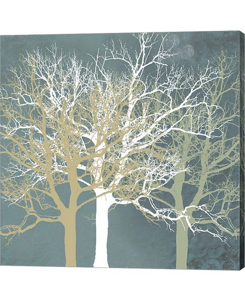 Metaverse Tranquil Trees by Erin Clark Canvas Art