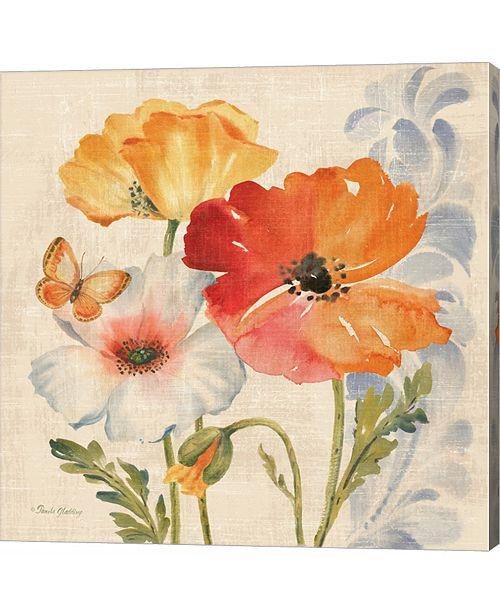 Metaverse Watercolor Poppies Multi II by Pamela Gladding Canvas Art