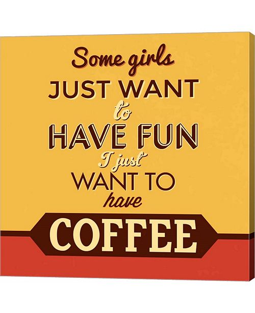 Metaverse I Just Want to Have Coffee by Lorand Okos Canvas Art