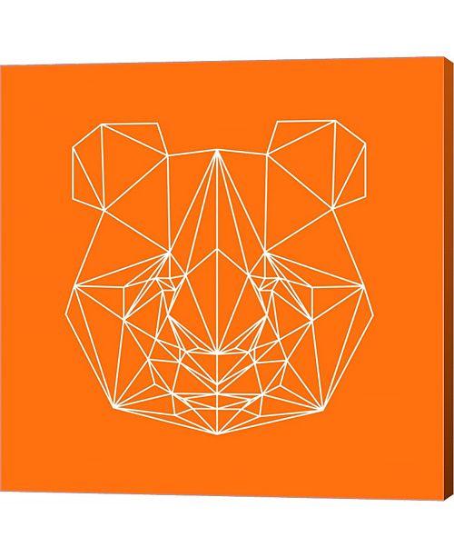 Metaverse Panda on Orange by Lisa Kroll Canvas Art