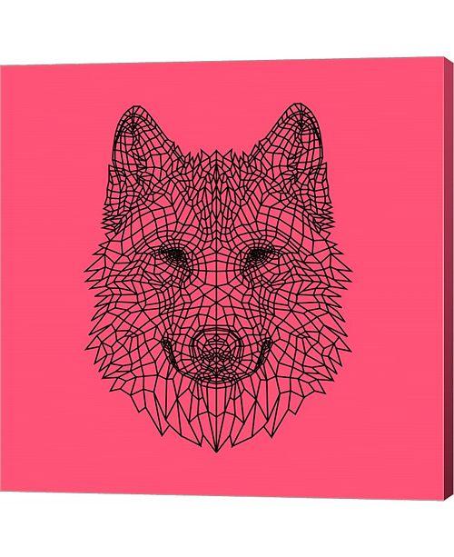 Metaverse Pink Woolf by Lisa Kroll Canvas Art