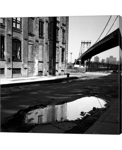 Metaverse Puddle and Bridge Plate #2 by Harold Silverman Canvas Art