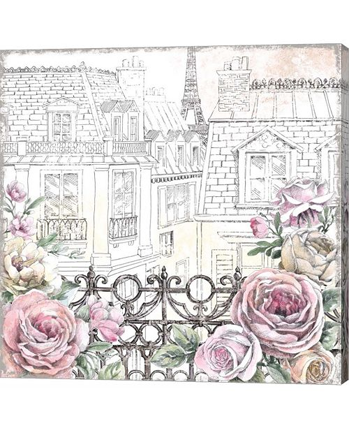 Metaverse Paris Roses II by Beth Grove Canvas Art