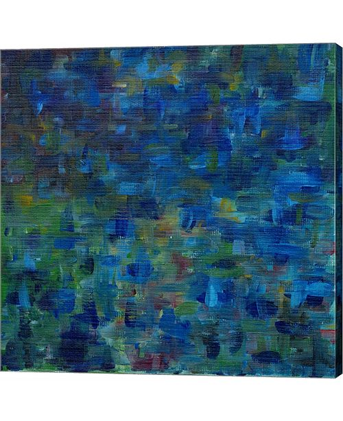 Metaverse Mixed Emotions in Blue II by Everett Spruill Canvas Art