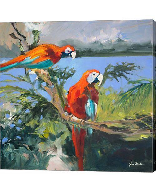 Metaverse Parrots At Bay II by Jane Slivka Canvas Art