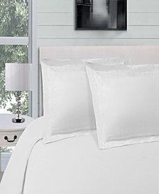 Superior Embroidered Soft, Light Weight, Microfiber, Full/Queen Size Duvet Cover Set, Solid White