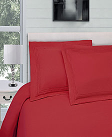 Superior Embroidered Soft, Light Weight, Microfiber, Twin/Twin XL Size Duvet Cover Set, Solid White