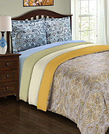 Superior Heritage 1800 Series Paisley Duvet Set - Twin - Sage