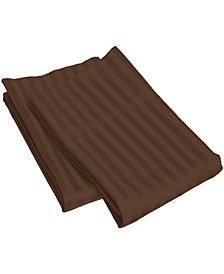 Superior Prestige 1500 Series Stripe Pillowcase Set - Standard - White