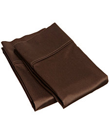 Superior 400 Thread Count Premium Combed Cotton Solid Pillowcase Set - Standard