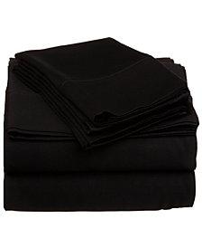 Superior 530 Thread Count Premium Combed Cotton Solid Sheet Set - Full - White