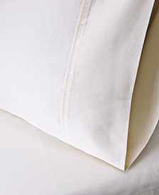 Superior 530 Thread Count Premium Combed Cotton Solid Pillowcase Set - King - White