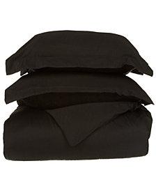 Superior 530 Thread Count Premium Combed Cotton Solid Duvet Set - King/California King - White